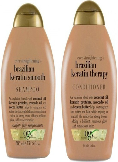 Organix Ogx Brazilian Keratin Düzleştirici Etkili Şampuan 385 Ml + Saç K Renksiz